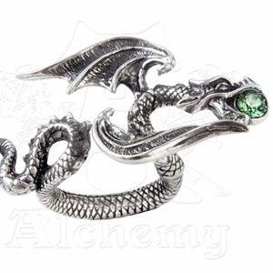 Star Chaser Dragon Ring w/ Swarovski Crystal